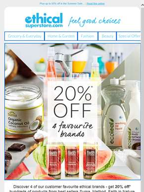 20% off 4 top brands - but which ones?