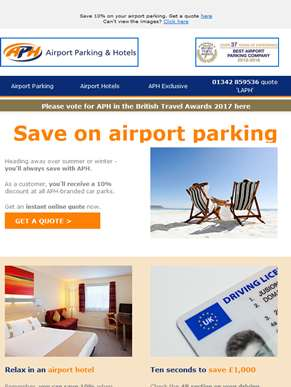 Make the most of your airport parking discount