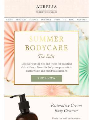 Aurelia's Summer Bodycare Edit