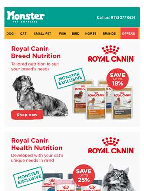 ?? ?? Stock up on Royal Canin for dogs and cats ?? ??