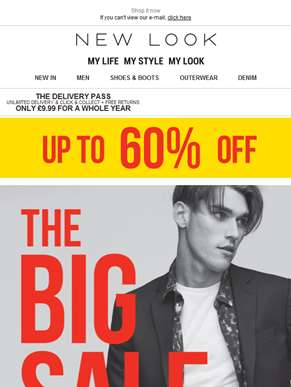 The BIG 60% OFF SALE is here...with new styles added!