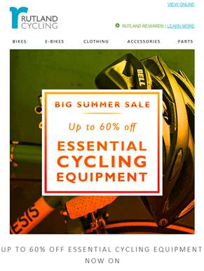 NEW: 60% Off Essential Cycling Equipment!