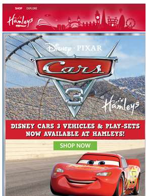 Ka-Chow! Cars 3 at Hamleys available now!