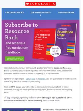Kick-start your September planning with Scholastic Resource Bank