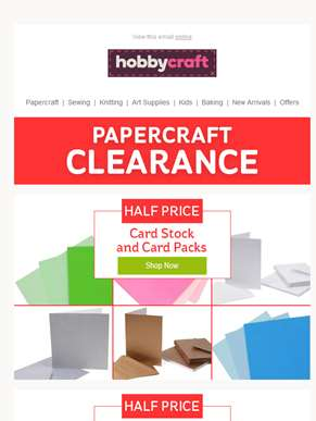 Papercraft Clearance from £1