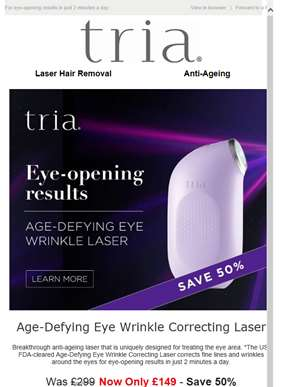 Save 50% on Age-Defying Eye Wrinkle Correcting Laser