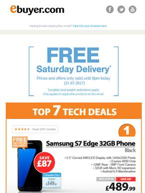 Hi  - Samsung S7 Edge 32GB Phone - Now Under £490