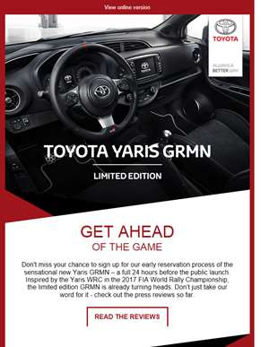 Be first in the Yaris GRMN