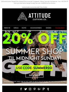 ?? 20% OFF Everything In Our Summer Shop - Limited Time Offer ??