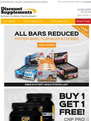 Protein BAR Sale Ends Tonight (inc BOGOF)