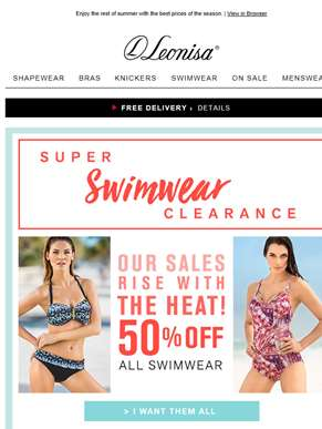 50% OFF all swimwear! Unbeatable Prices