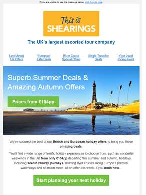 Superb Summer ?? Deals & Amazing Autumn ?? Offers from £104pp for a limited time only...