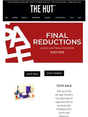 Final reductions across your favourite brands...