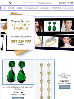 Cannes Festival Celebrity Sparkle - £20 OFF!