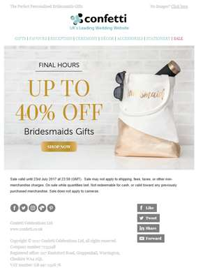 Last chance to save on bridesmaids gifts!