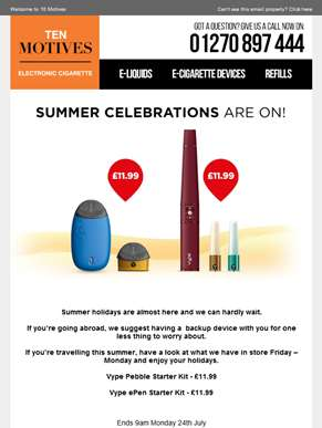 Summer Celebrations Are On! Hurry Ends 9am Tomorrow!
