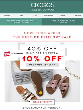 Woah, Extra 10% Off FitFlop SALE!