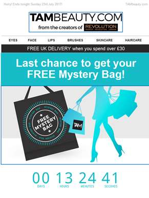 Hurry! Last day to get your FREE Mystery Bag!