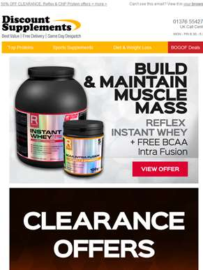 Premium Protein Offers & Up to 50% OFF Clearance
