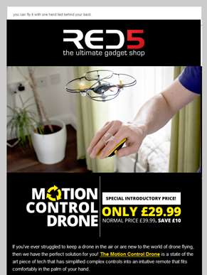 LIMITED OFFER: £10 off the Motion Drone!