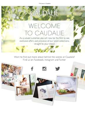 Caudalie newsletter subscription confirmation