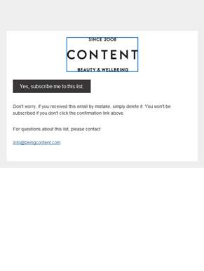 Content News & Updates: Please Confirm Subscription