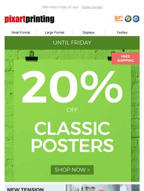 Hurry: 20% off Classic Posters!