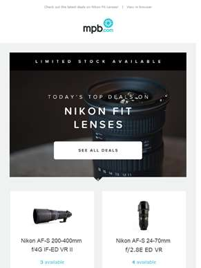 Check out our latest deals on Nikon fit lenses!