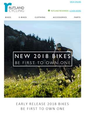 NEW: 2018 Bikes – Be First to Own One