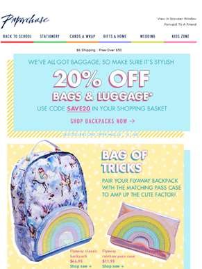Bag It Up - 20% Off