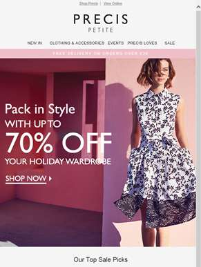 Get holiday ready with up to 70% off