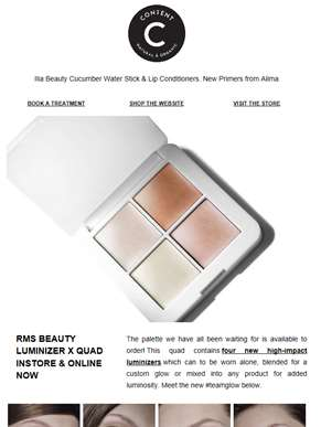 Rms Beauty Luminizer X Quad | Content Summer Collection GWP