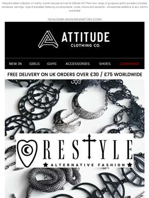 New Arrivals! ???? Occult & Gothic Jewellery by Restyle