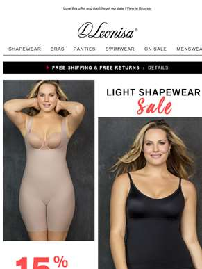 Don't miss it! 15% Off Shapewear and enjoy our Fashion Show today