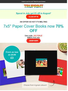 Up to 70% off select Photo Books - Including our new 8x8