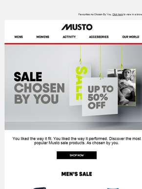 The Musto Sale Favourites. Find Yours.