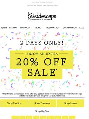 Sale Just Got Better... Extra 20% Off!
