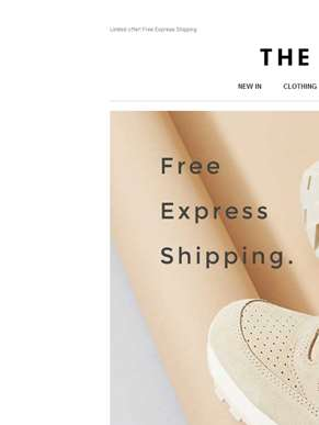 Limited offer: Free express shipping