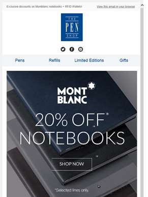Special Offers on Montblanc Fine Stationery, RFID Wallets + more!