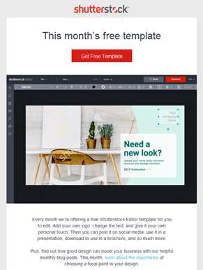 Free download: New Shutterstock Editor template