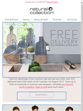 Free Delivery On Orders Over £20*