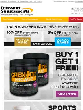 Advanced Creatine Powder BOGOF & More
