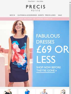 Hurry! £69 and under dresses selling fast!