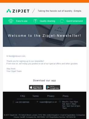 Welcome to the Zipjet-Newsletter!