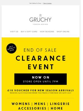 Our Clearance Event Is Now On