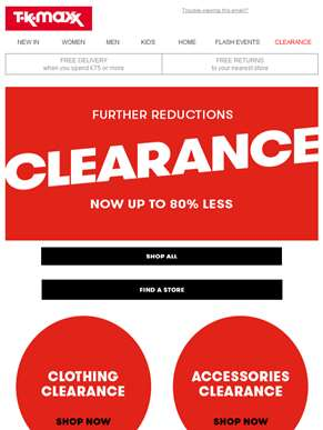 Clearance: Further reductions