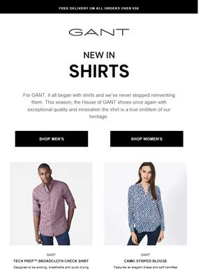 New In Shirts | Free delivery on all orders over £50