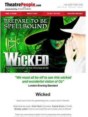 Wicked | Pay no booking fee & see the new cast