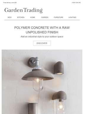 New Unpolished Polymer Concrete Outdoor Lighting
