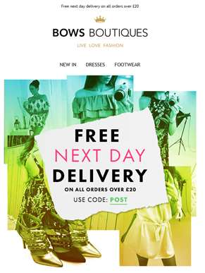 FREE NEXT DAY DELIVERY - Hurry Ends 4pm Today! ??